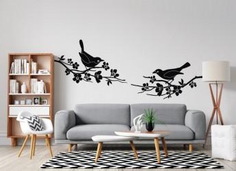 naklejki na ścianę ptaki na gałęzi