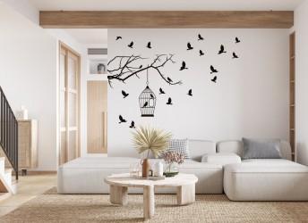 naklejki na ścianę ptaszki