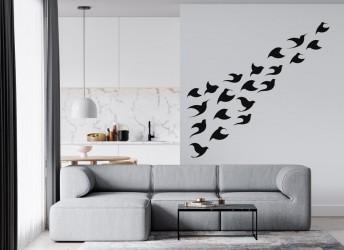 naklejki na ścianę lecące ptaki