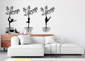 naklejki na ścianę do salonu