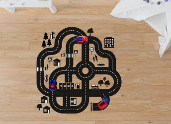 naklejki na podłogę tor samochodowy