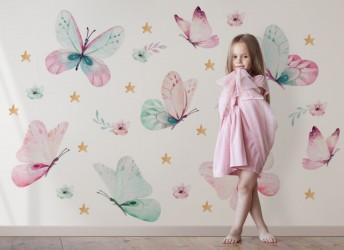 naklejki na ścianę motylki