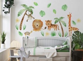 naklejki na ścianę dżungla