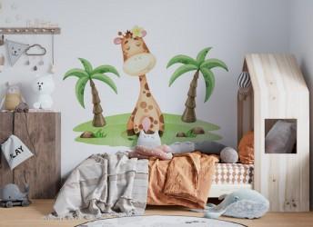 naklejka na ścianę żyrafa