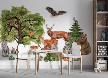 naklejki na ścianę drzewa