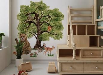 dekoracje do pokoju las