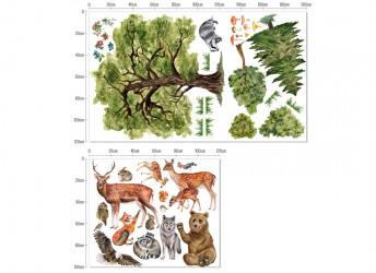 dekoracje leśny motyw