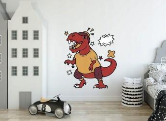 naklejka na ścianę zabawny dinozaur