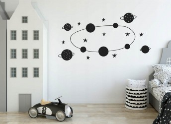 Naklejki na ścianę kosmos