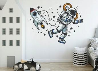 Naklejka na ścianę dla dzieci kosmos
