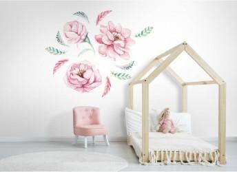 Naklejka na ścianę kwiaty boho