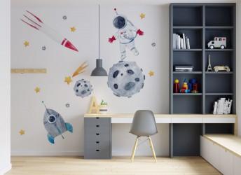 Naklejki na ścianę do pokoju dziecięcego kosmos