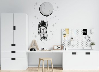 naklejki na ścianę kosmonauta