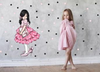 Naklejka na ścianę Dziewczynka