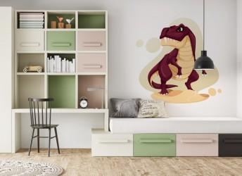 naklejka na ścianę do pokoju dziecięcego dinozaur