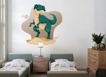 naklejka na ścianę dla dziecka tyranozaur