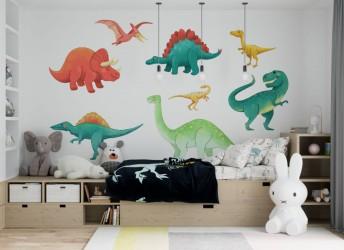 naklejki na ścianę z dinozaurami