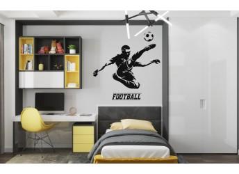 naklejka na ścianę dla chłopca piłkarz
