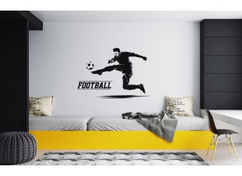 Naklejka na ścianę piłkarz