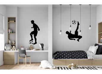 naklejka na ścianę z piłkarzami