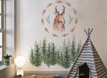 naklejki na ścianę las