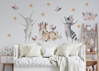 naklejki na ścianę zwierzęta boho