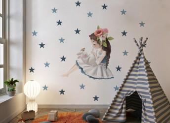 Naklejka na ścianę do pokoju dziewczynki
