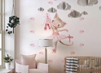 Naklejka na ścianę dla dziewczynki