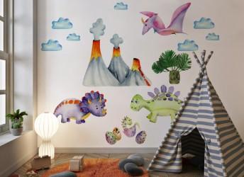 naklejka na ścianę dla dzieci dinozaury