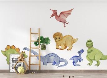 Dinozaury na ścianę dla dzieci