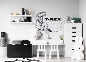 Naklejka na ścianę dinozaur T-REX