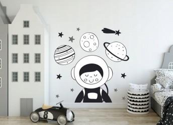 Naklejki na ścianę astronauta kosmos