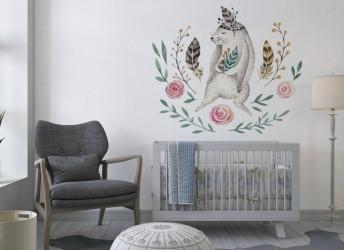 naklejki na ścianę króliczek boho