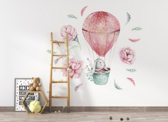 naklejki na ścianę króliczek w balonie