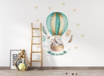 naklejki na ścianę zwierzątka w balonie