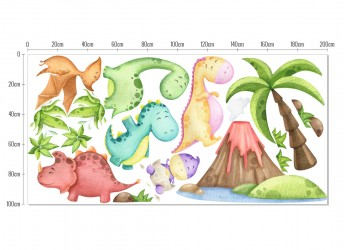 naklejki na ścianę dla chłopców dinozaury