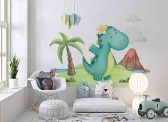 naklejka na ścianę do pokoju dziecka dinozaur