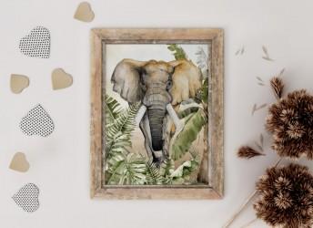 Plakat SAWANNA słoń