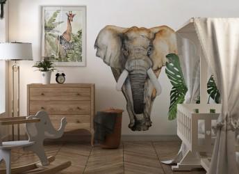 Naklejka do salonu słoń