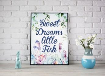 Plakat ocean sweet dreams littke fish