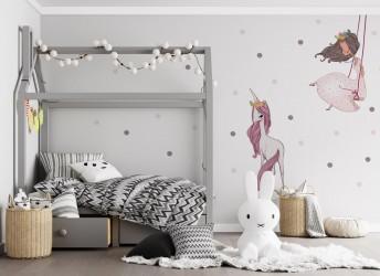 Naklejka na ścianę dla dziewczynki z księżniczką