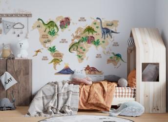 naklejki na ścianę do pokoju dziecka dinozaury