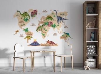 naklejki na ścianę dla dzieci mapa świata