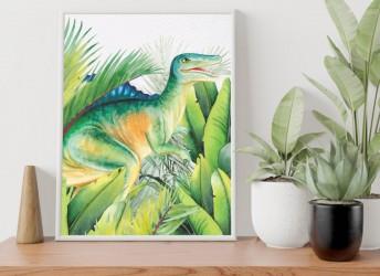 Plakat z dinozaurem Spinozaur