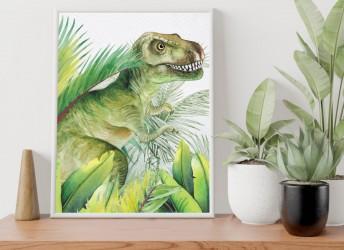Plakat z dinozaurem Tyranozaur