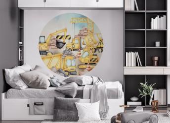 Naklejka na ścianę koło