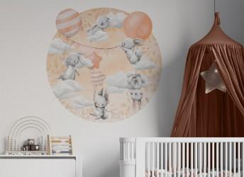 Naklejki na ścianę zwierzątka z balonami
