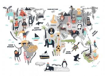 naklejka mapa świata dla chłopca
