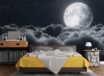 fototapeta do sypialni księżyc niebo
