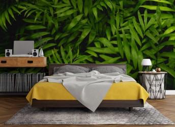 fototapeta liście zielone